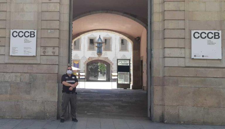 Vigilante de GC en el CCCB