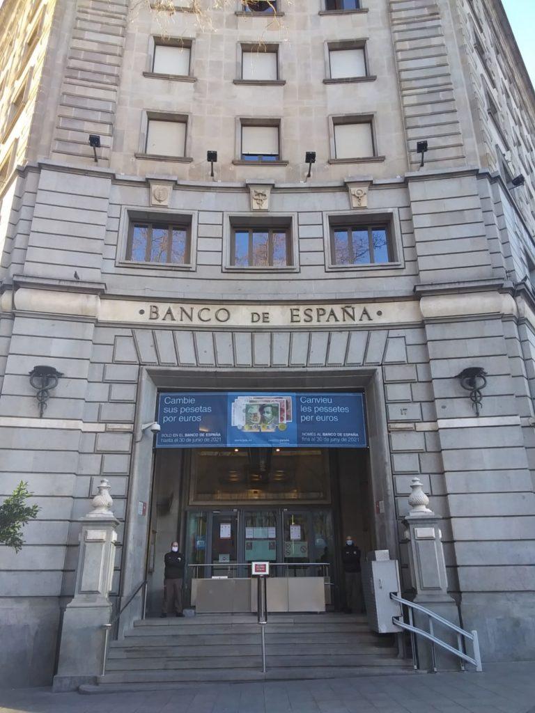 Sede del Banco de España en Barcelona