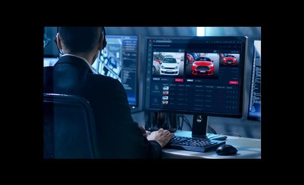 visualización en tiempo real de matrículas de vehículos